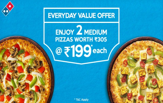offers on Tossed Pizzas